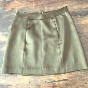 BCBG silk mini skirt